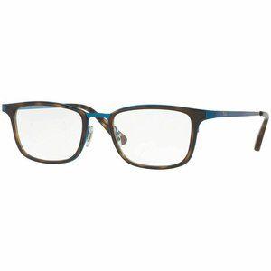Ray-Ban Rectangular Eyeglasses Blue W/Demo Lens